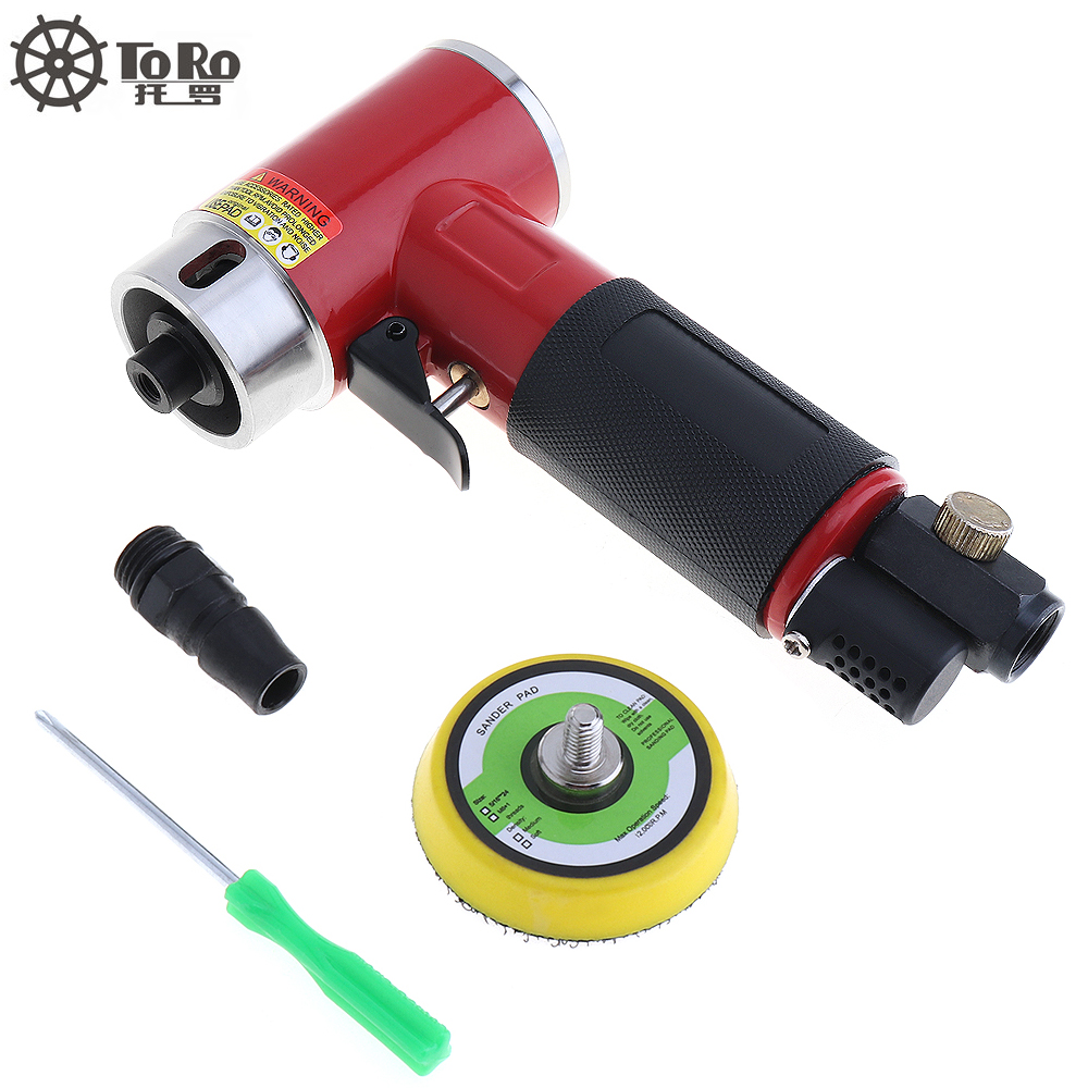 New 2 Inch Straight Heart High-speed Mini Pneumatic Sanding Machine with Push Switch and Sanding Pad for Polishing / Grinding 11 11 free shipping adhesive sander back pad sanding machine mat black white for makita 9035