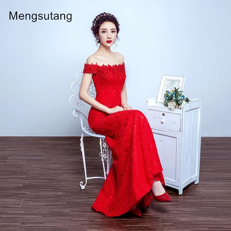 Плаття вечірнє плаття 2019 червоне букет вечірнє плаття з плеча риб'ячий хвіст Шнурок до вечірнього плаття випускного плаття