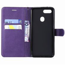 Card Slot Flip Leather Cases For Frame OPPO A73 A75 A75S F5 F7 F9 R17 Coque Mobile Phone Bags Stand Covers Luxury Capa DP06Z