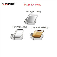 SUNPHG Magnetic Plug for IOS Type C Micro USB Cable Charging Adapter For iPhone X  For Samsung S9 Charger plugs