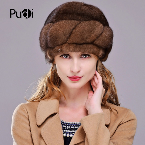 HM007 Winter hats for women Real genuine mink fur hat women's winter hats whole piece mink fur hats hm039 real genuine mink hat winter russian men s warm caps whole piece mink fur hats