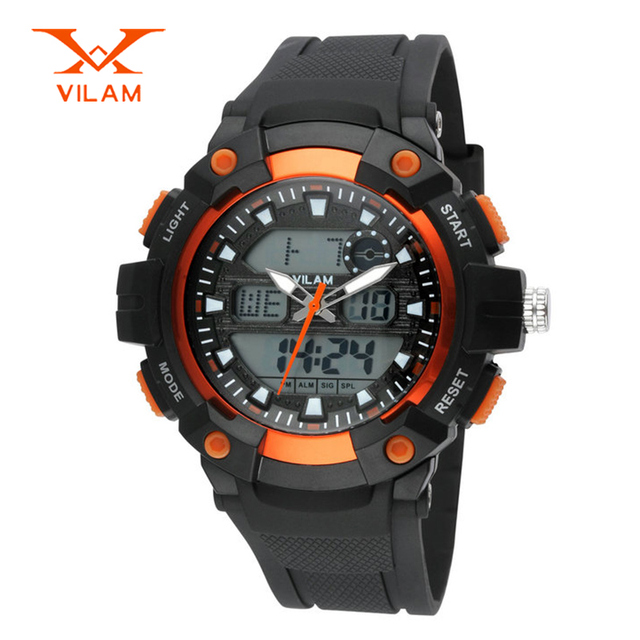Dropship sport watch men brand VILAM military digital watches LED quartz wristwatches waterproof relogio masculino VL13019S
