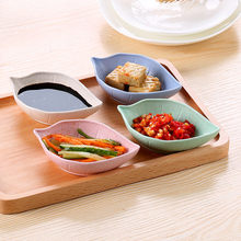 Creative Leaves Dish Baby Kid Bowl Wheat Straw Soy Sauce Dish Japanese Tableware Food Container Rice Bowl Plate Sub Plate(China)