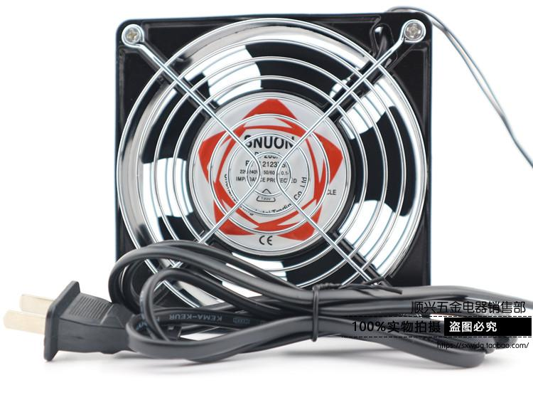все цены на Fan12cm 220v 12038 dual network  with cable electronic enclosures industrial computer case   fan radiator  band oil онлайн