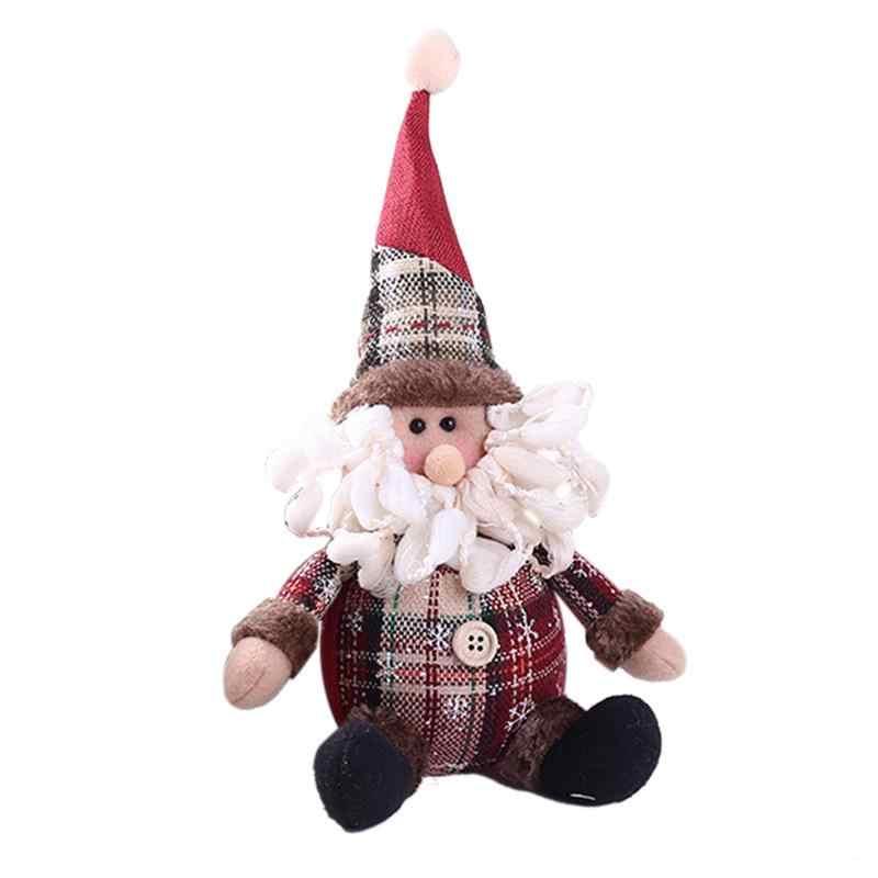 Рождественское украшение подарок Рождественская елка кулон милый Санта Снеговик в форме оленя кукла праздничные принадлежности