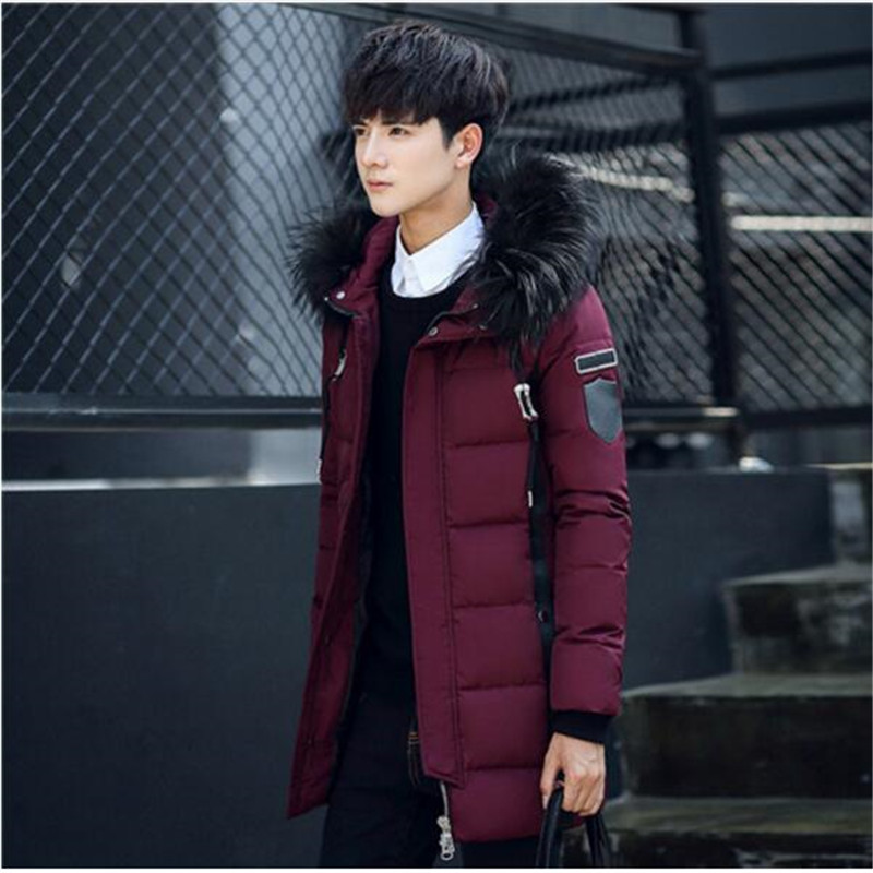 2017 Autumn Winter Parkas Men Warm White Duck Down Long Jackets Keep Warm Coat Casual Men's Thick Down Overcoat Jacket Parka russia winter boys girls down jacket boy girl warm thick duck down