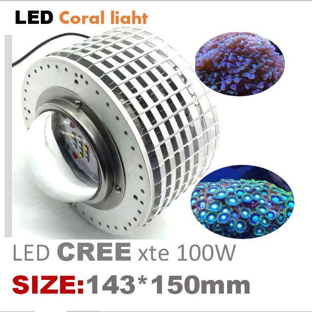 100w cree led aquário luz marinha recife coral lâmpada do tanque de peixes para água salgada peixes marinhos de água doce pet iluminação cultivada