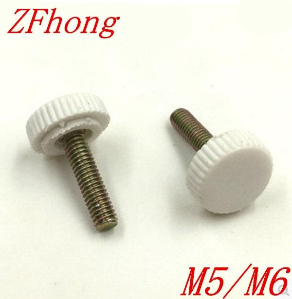 50pcs M5/M6 plastic knurled hand tighten thumb screw length 8/10/12/16/18/20/25 10pcs 6x15mm male threaded 22mm dia plastic thumb screw knurled knob