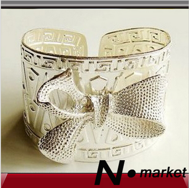 New Arrival Silver Bow Tie Stainless Steel Table Napkin Rings For Wedding Opening Lovely Napkin Holder