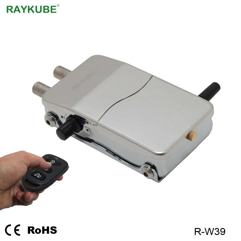 RAYKUBE Électronique sans clé de Serrure de Porte De Télécommande Sans Fil Intelligente Serrure Invisible Pour La Sécurité À La Maison BRICOLAGE Kit R-W39