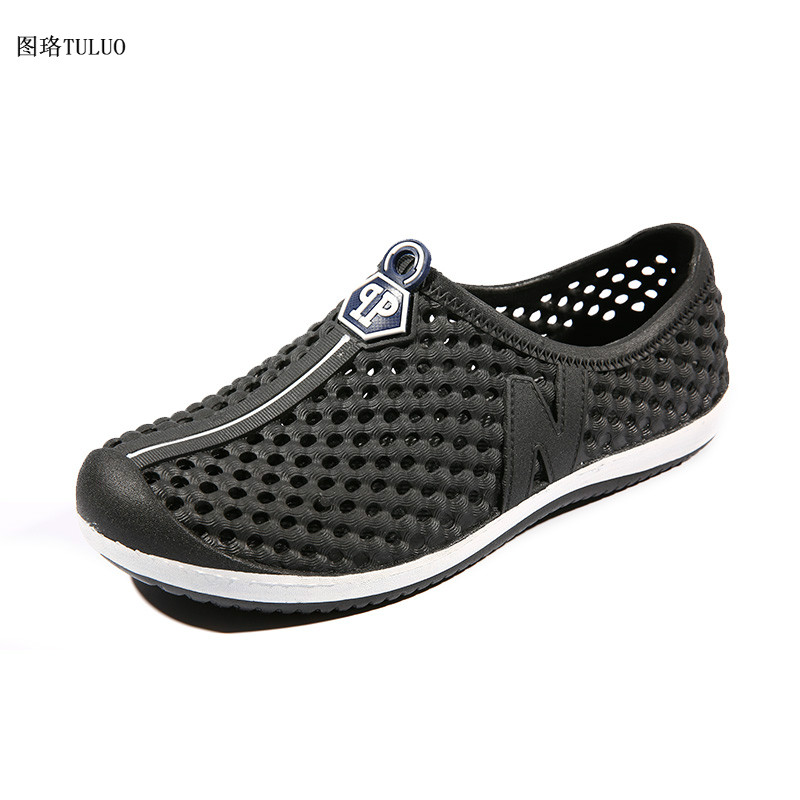 Men Hollowed-out Slip-on Sandals 2014 newest online marketable online Manchester online many kinds of for sale tvW8jGHij