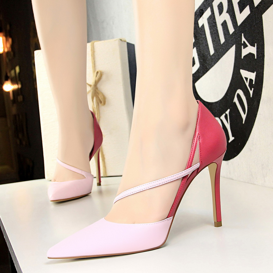 2019 Spring Summer New Sandals Woman Shoes Pink Sexy Lady Party High Heels Back Stripe Sandals