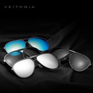 Image 2 - VEITHDIA Brand Mens Aluminum Magnesium Sunglasses Polarized UV400 Lens Eyewear Accessories Male Sun Glasses For Men/Women V6850
