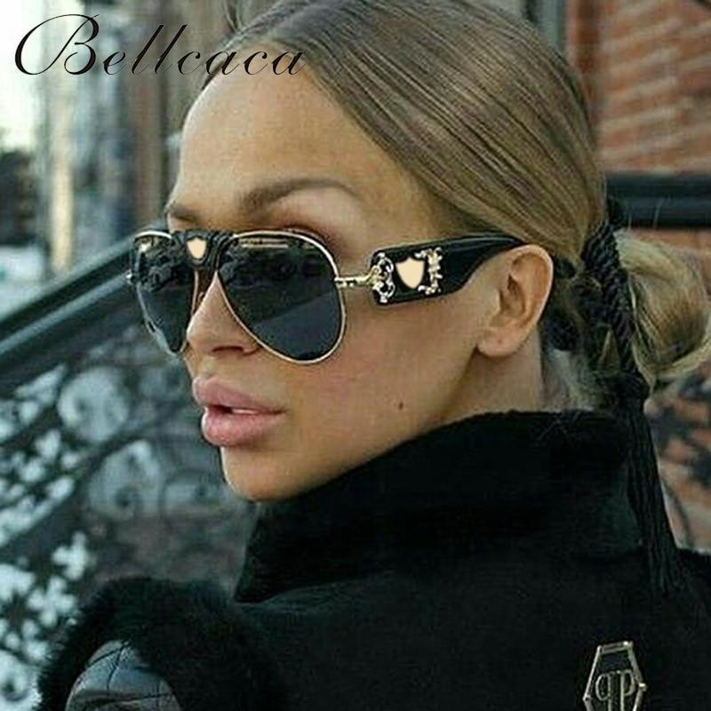 Bellcaca divat napszemüveg férfi nők márka tervező luxus hölgy nyári napszemüveg női hím UV400 Oculos árnyalatok BC051