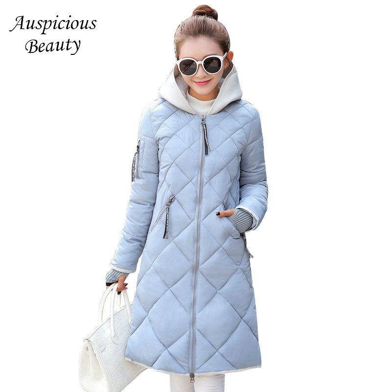 New Women Winter Coat Female Winter Warm Jackets Cotton Padded Parkas Autumn Hooded Outerwear Female Wadded Overcoat CXM153 9m 4t baby girls 2015 new autumn winter thick wadded coat kids cotton warm hooded jackets children padded outerwear