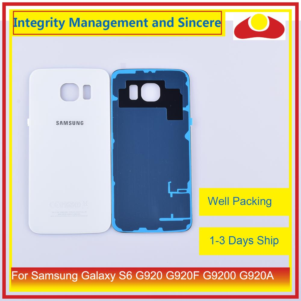 Image 4 - 50Pcs/lot For Samsung Galaxy S6 G920 G920F G9200 G920A Housing Battery Door Rear Back Glass Cover Case Chassis Shell Replacement-in Mobile Phone Housings & Frames from Cellphones & Telecommunications
