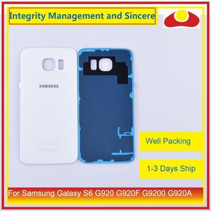 Image 4 - 50Pcs/lot For Samsung Galaxy S6 G920 G920F G9200 G920A Housing Battery Door Rear Back Glass Cover Case Chassis Shell Replacement