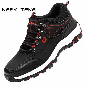 men's leisure comfortable steel toe caps work safety shoes anti-pierce cow leather building site worker dress security boots man