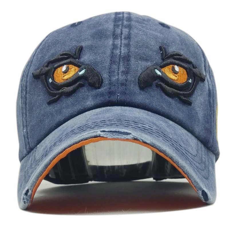 % 100% Yıkanmış pamuklu beyzbol şapkası Erkekler Gözler Snapback Şapka Kadın Hip Hop Kemik Casquette Vintage Nakış Gorras Mektubu Baba Şapka Kap