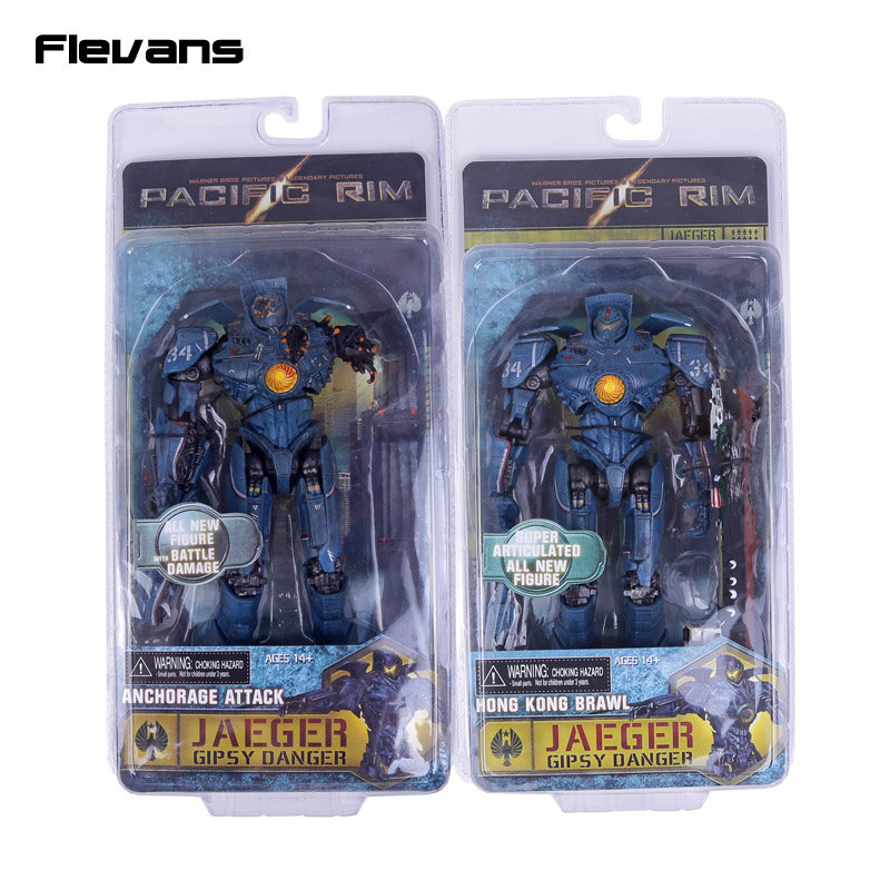 NECA Pacific Rim Jaeger Gipsy Danger Hong Kong Brawl / Anchorage Attack PVC Action Figure Collectible Model Toy 18cm neca pacific rim jaeger striker eureka pvc action figure collectible model toy 7 18cm