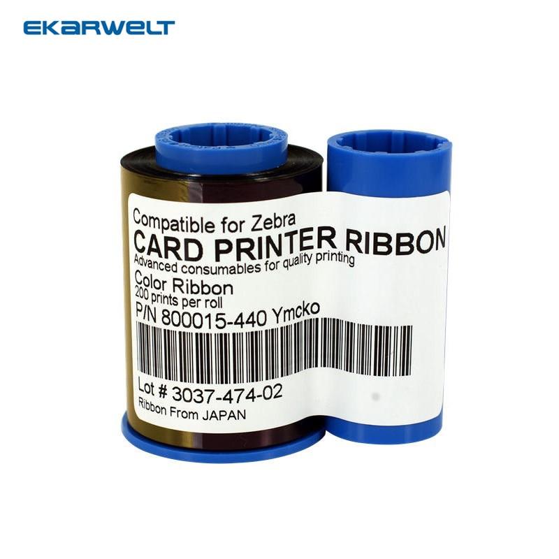 800015-440 YMCKO full Color Ribbon for Zebra ID Card Printer P320i P330i P420i P430i P520i magicard m9005 751 card printer ribbon lc1 ymcko color printer ribbon