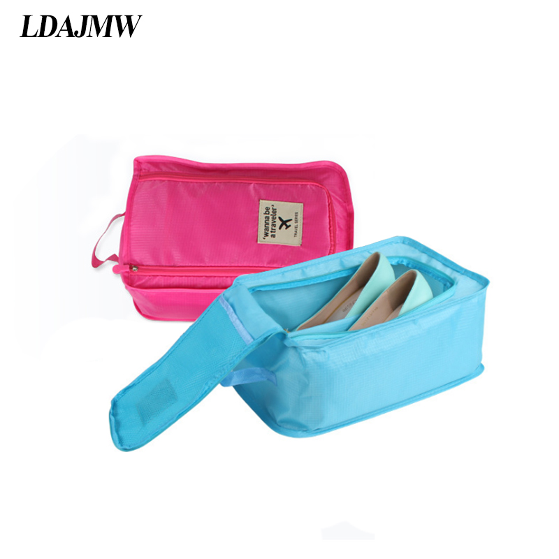 Dependable Hot Portable Travel Outdoor Waterproof Tote Pouch Shoe Storage Zip Bag Organizer Fashionable Style; In