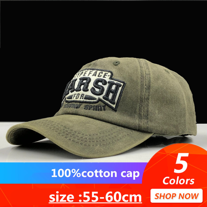 Hat Snapback Baseball-Caps Trucker Bone Embroidery Women for Washed Vintage Casquette