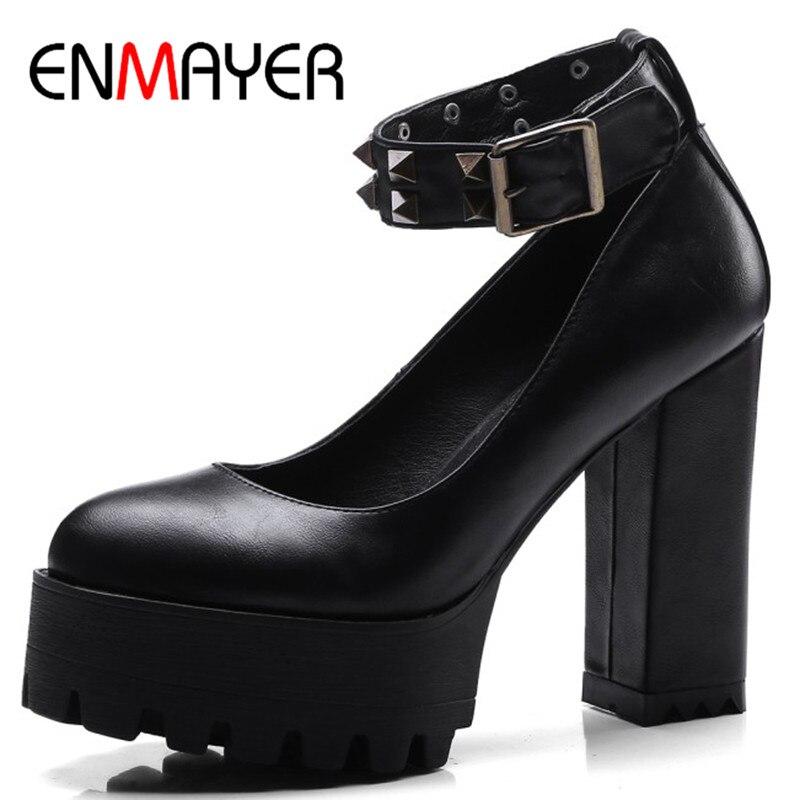 Kappe Enmayer Schnalle schwarzes Beige Plattform Schuhe Tan Pumpen High 34 light Frau Frauen 42 Runde Plus grau Heels Größe Schuh xwxF7qrvC