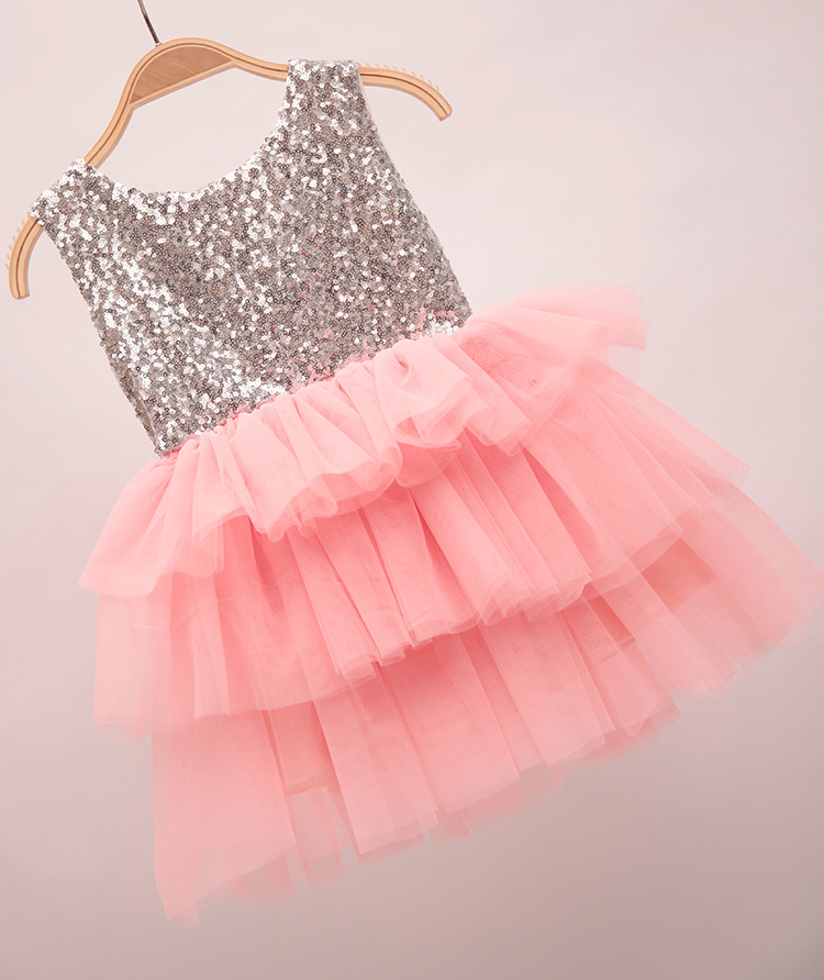 Retail Free shipping sleeveless Princess Bling summer Sequin Ball gown  wedding Dress with big bows baby girls summer tank dress -in Dresses from  Mother ... 873b4ed7cf3e