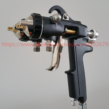 Miễn phí vận chuyển nano chrome sơn kép head khí nén phun nóng trên doanh số bán hàng đôi vòi phun súng