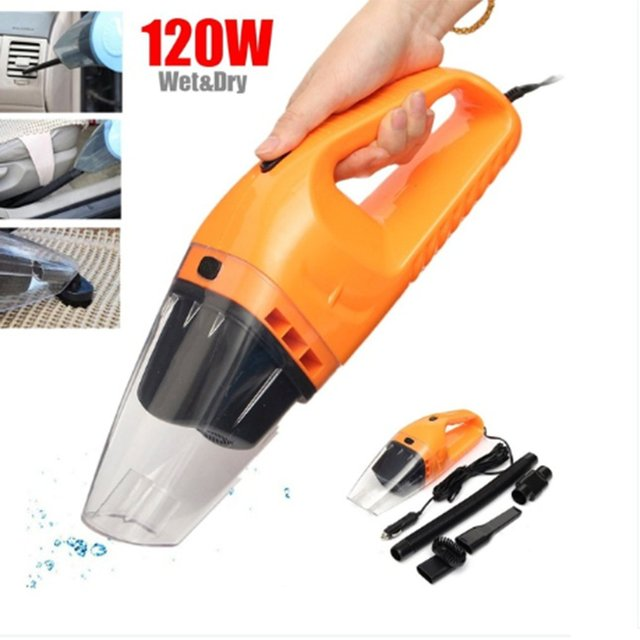 120w 12V Mini Vehicle Mounted Vacuum Cleaner for Super Suction Car Large Power Wet and Dry Dual Purpose Portable Vacuum Cleaner