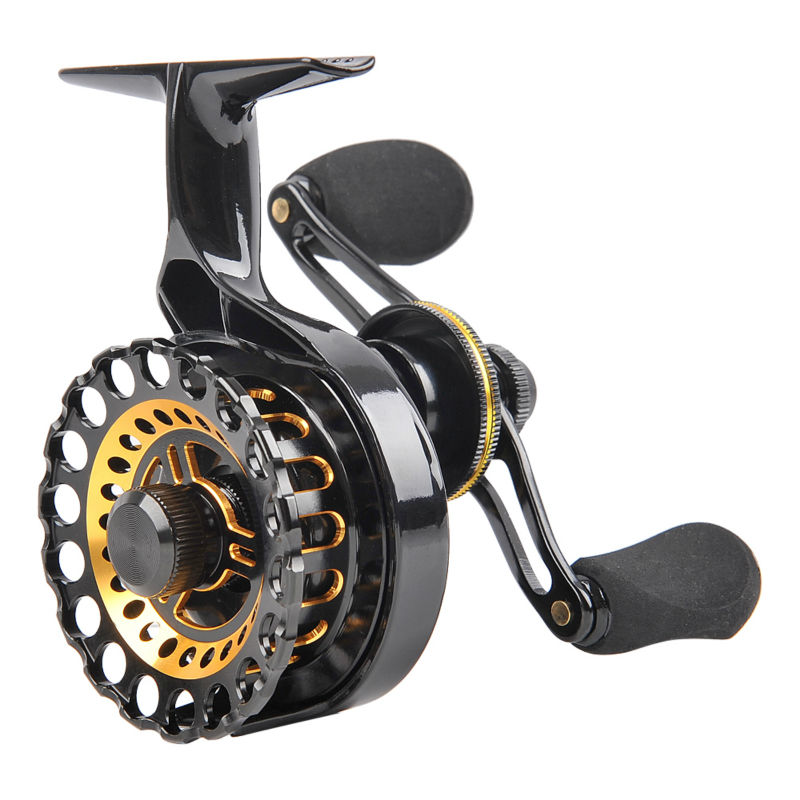 Fiblink inline ice fishing reel right left handed fishing for Left handed fishing reels