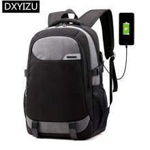 DINGXINYIZU men notebook computer backpack usb charge travel schoolbag laptop bag 15.6 college student school