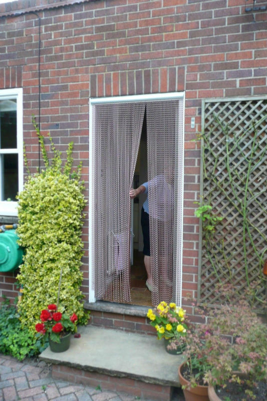 Türen, Tore Und Fenster Silber 22-001 Aluminium Kette Tür Fenster Vorhang Metall Bildschirm Fliegen Insekt Jalousien Schädlingsbekämpfung