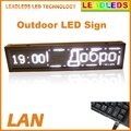 "41""x9.5"" P10 Outdoor LED Sign Cool White Light Message Scrolling Display Board Program by LAN"