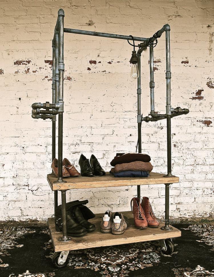 American Vintage Clothing Store Shelf Floor Hangers Coat