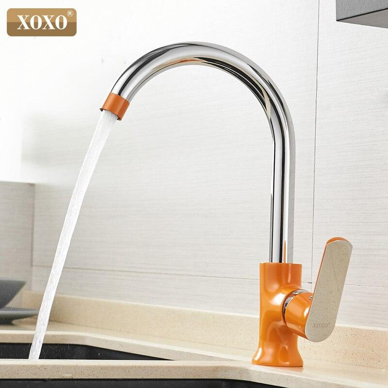 Xoxo torneira da cozinha de bronze água fria e quente único punho 360 graus rotação misturadora Tap20021-1