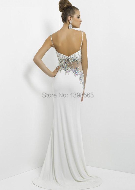 Aliexpress.com : Buy Cheap White Evening Dresses Gowns Stones ...
