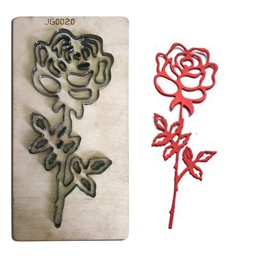 Букет роз цветок деревянные трафареты для пресс формы DIY Скрапбукинг Фотоальбом