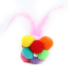 Funny Cat Toy Interactive Pet Kitten Feature Toys Catnip Scratcher Playing Ball Bell For Cats Products