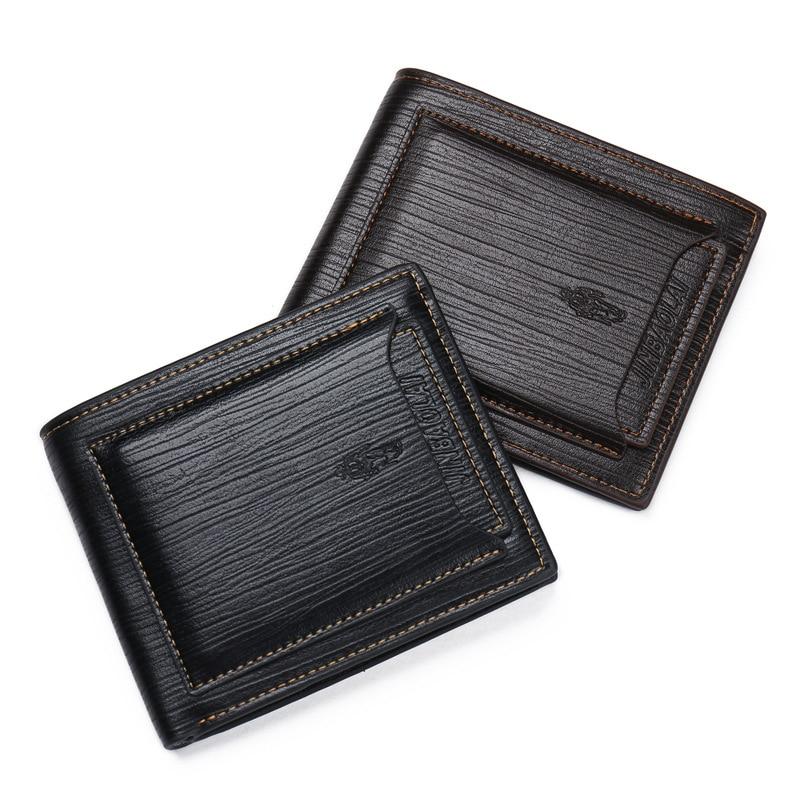 New Small Luxury Brand Male Men Wallet Purse Clutch Handy Portfolio Portomonee Walet Bag Cuzdan Money Fashion Vallet Card Holder 3
