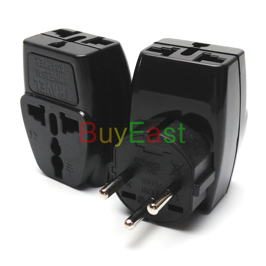 10 x Israeli 3 Way Multi Outlet Electrical Plug Adapter Universal ...