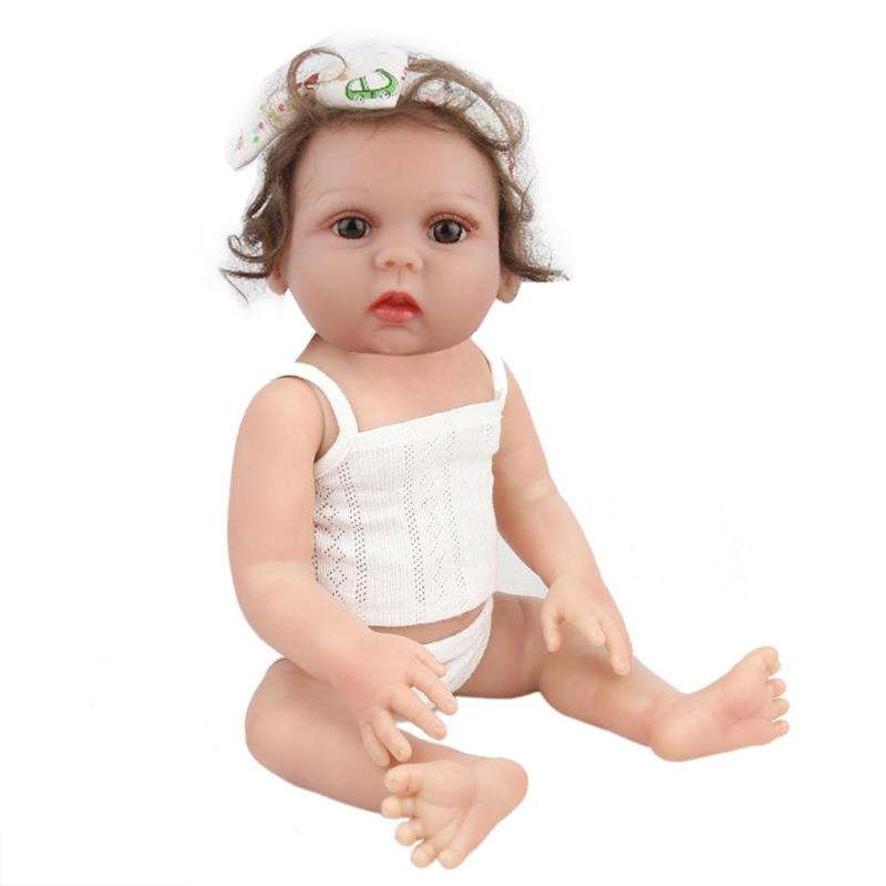 48cm Reborn Baby Doll Toy Vinyl Cute Newborn Baby Simulation Doll Kids Lifelike Playmate Toy Infant Sleeping Accompanying toys