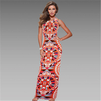 Vestidos 2016 Summer Women Vintage Robe Lolita Long Dashiki Dresses Plus Size Bohemian Print Ceremonial Dresses