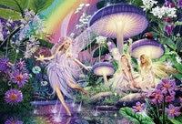 5D Diy Diamond Painting Mushroom Fairy Cross Stitch Embroidery Diamond Flores Mosaic Diamond Wall Stickers Home