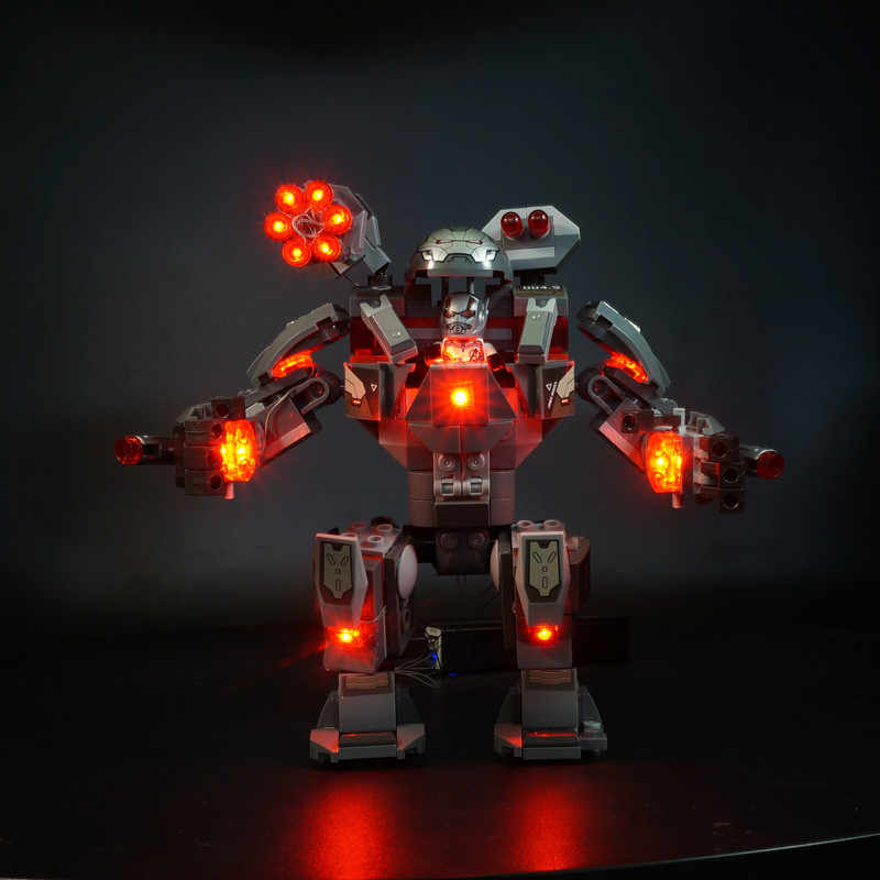LED Light Kit For lego 76124 Superheroes Avengers 4 War Machine Buster Building Blocks  ( only light included)