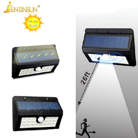 New 20LEDs Solar Power Sensor Light LED Wall Lamp Outdoor Lighting Waterproof Solar Street Lights Garden