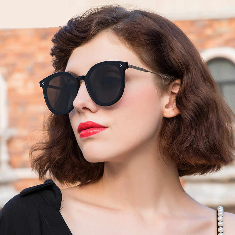 GUANGDU Oval Retro Large 2019 Frame Cat Eye Have Colored Transparent Goggle Sunglasses Women Ultra Light Classic Fashion Glasses