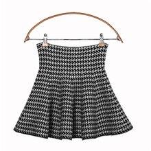 Новая Универсальная элегантная черно-белая трикотажная ультратонкая юбка в стиле ретро, осенне-зимняя юбка