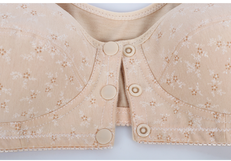 4860ee6817 Lady False Breast Cancer After Breast Surgery Bra Without Steel Ring Front  Botton Cotton Underwear Breast Prosthesis Bra D-1004